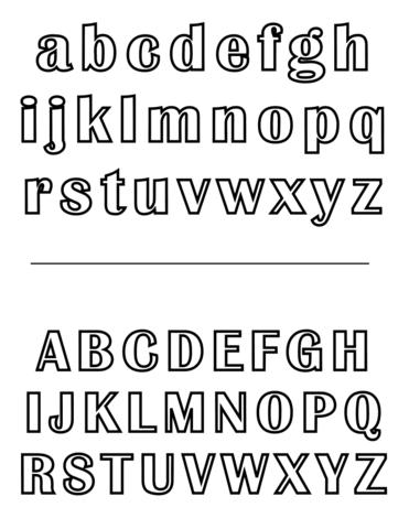 letras para colorear abecedario 1