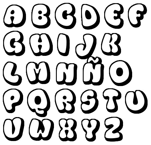 letras para colorear abecedario 6
