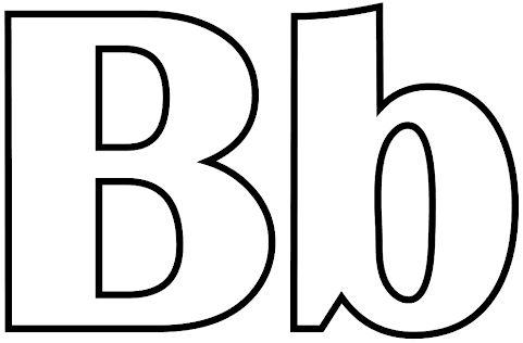 letras para colorear b 1