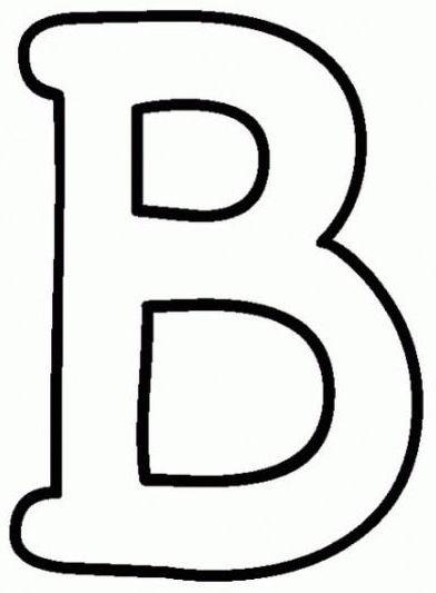 letras para colorear b 2