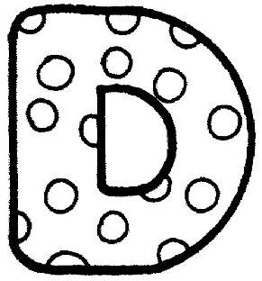 letras para colorear d 2