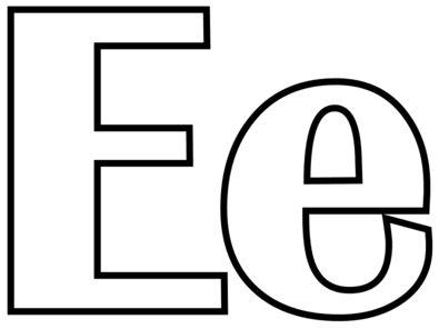 letras para colorear e 1
