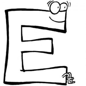 letras para colorear e 2