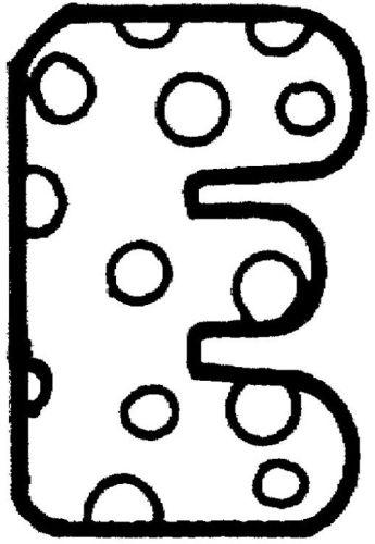 letras para colorear e 3