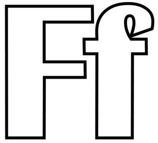 letras para colorear f 1