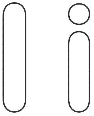 letras para colorear i 1