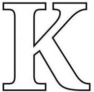 letras para colorear k 2