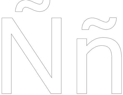 letras para colorear n 1 1