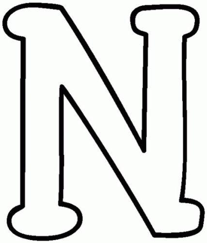 letras para colorear n 2