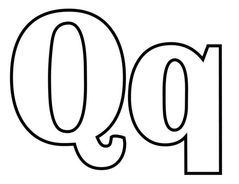 letras para colorear q 1