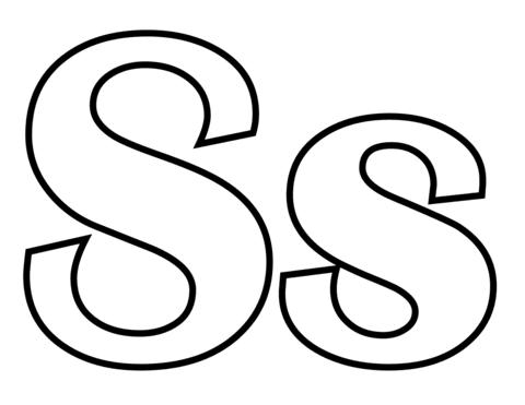 letras para colorear s 1