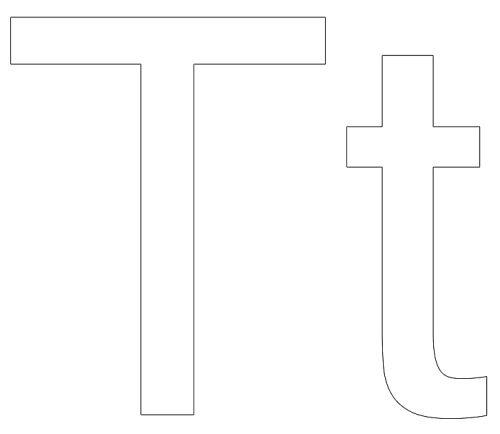 letras para colorear t 1