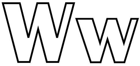 letras para colorear w 1