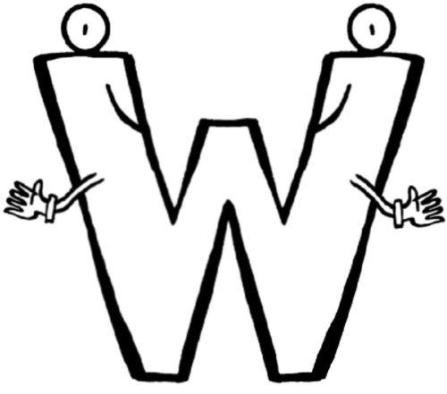 letras para colorear w 2