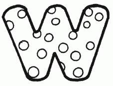 letras para colorear w 3