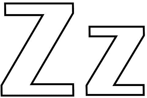 letras para colorear z 1