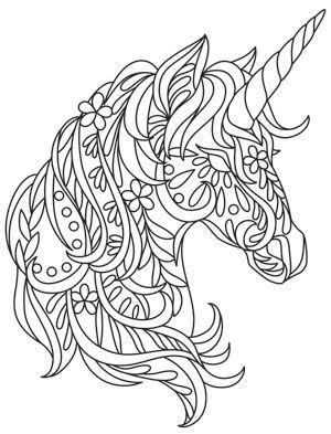 mandalas de animales para colorear 11 unicornio