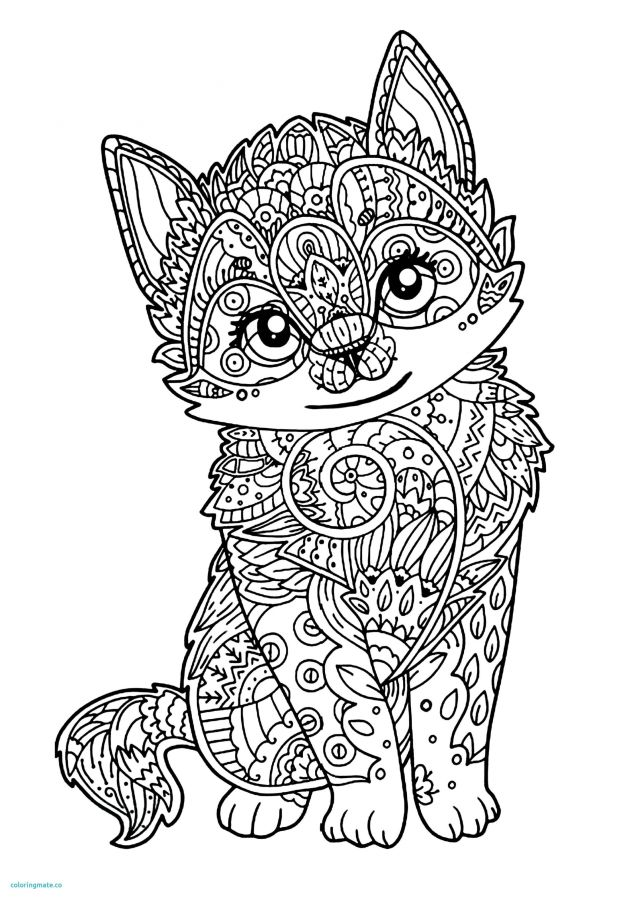 mandalas de animales para colorear 12 gato