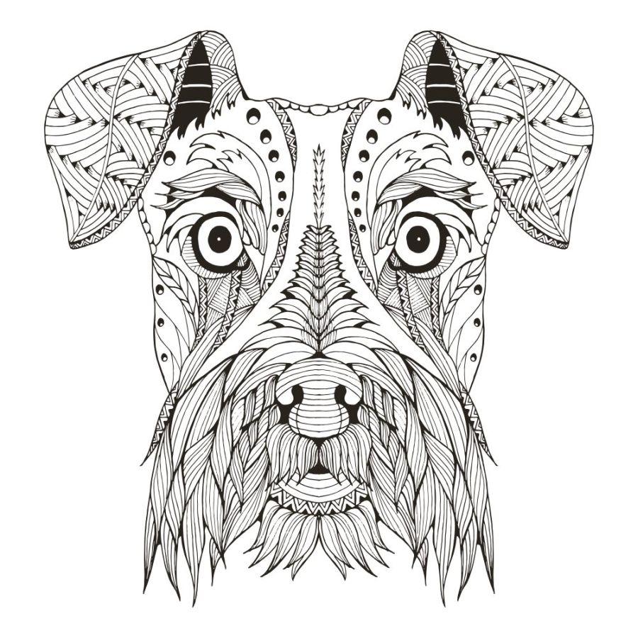 mandalas de animales para colorear 17 perro