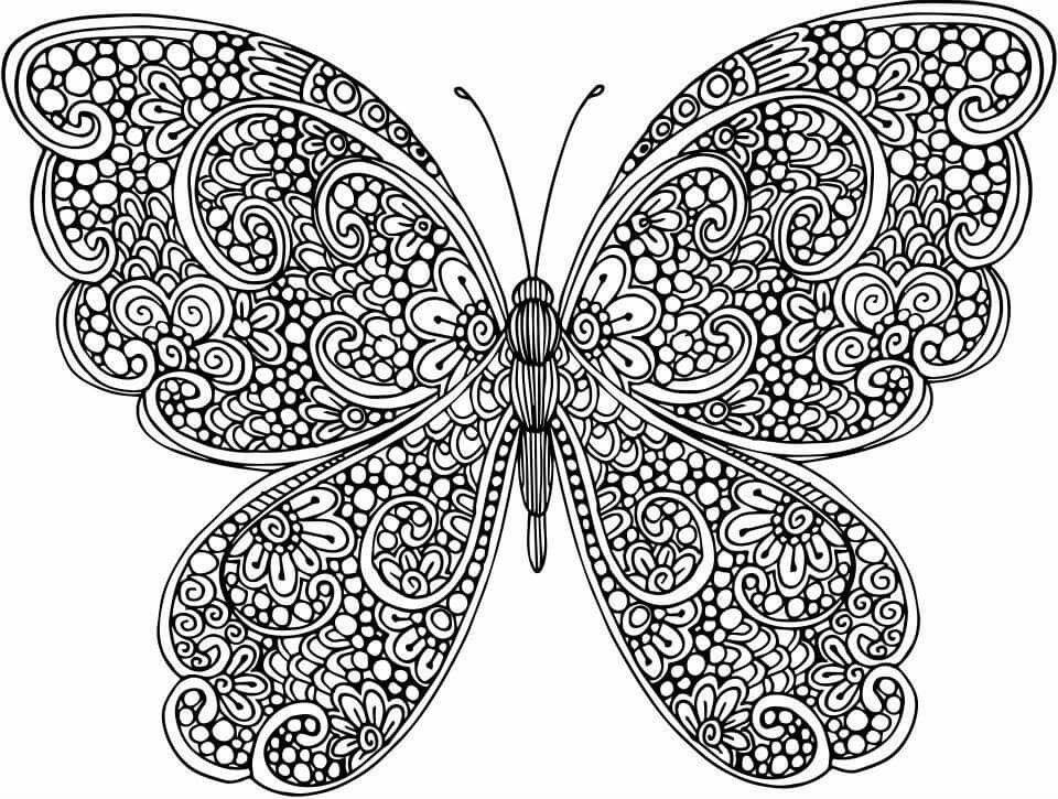 mandalas de animales para colorear 2 mariposa