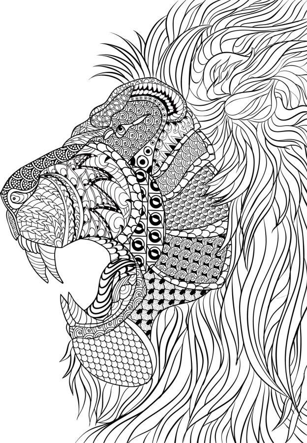 mandalas de animales para colorear 5 leon