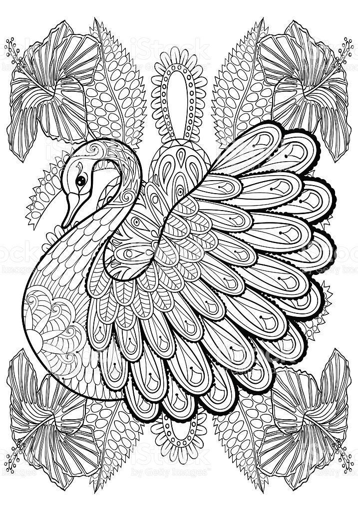 mandalas de animales para colorear 7 cisne
