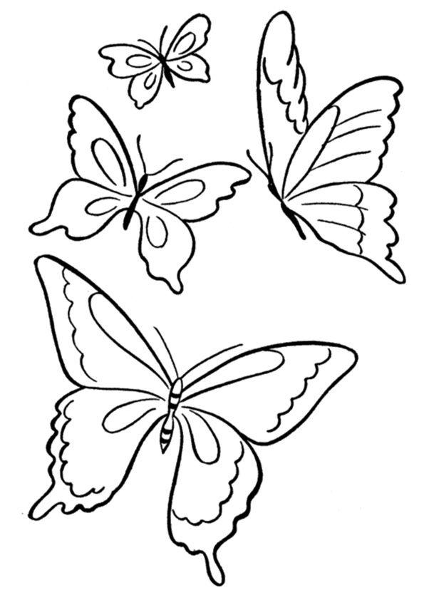 Dibujos De Mariposas Para Colorear Colorear24com