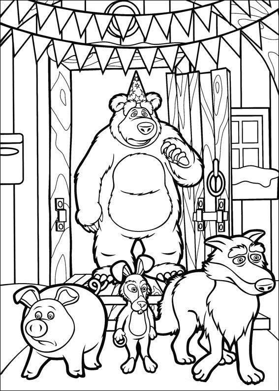 masha y el oso 1 oso y animales