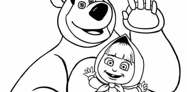 masha y el oso 27 saludando