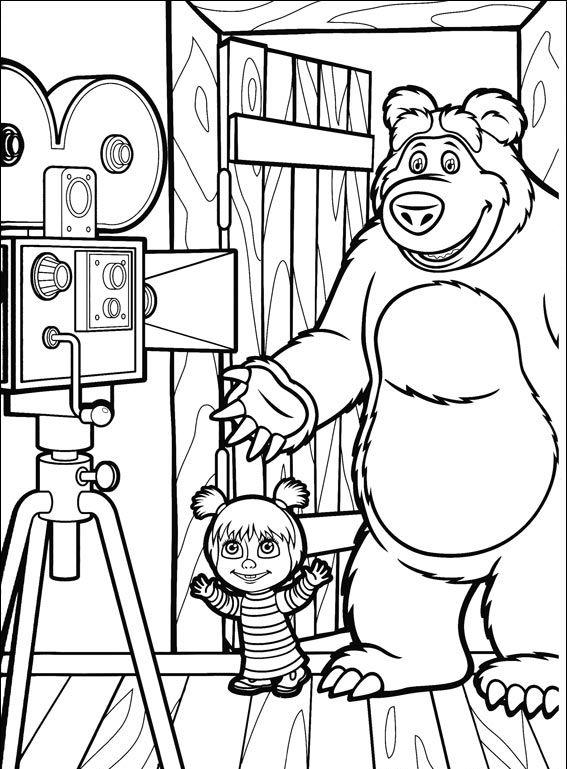 masha y el oso 34 masha y oso con videocamara