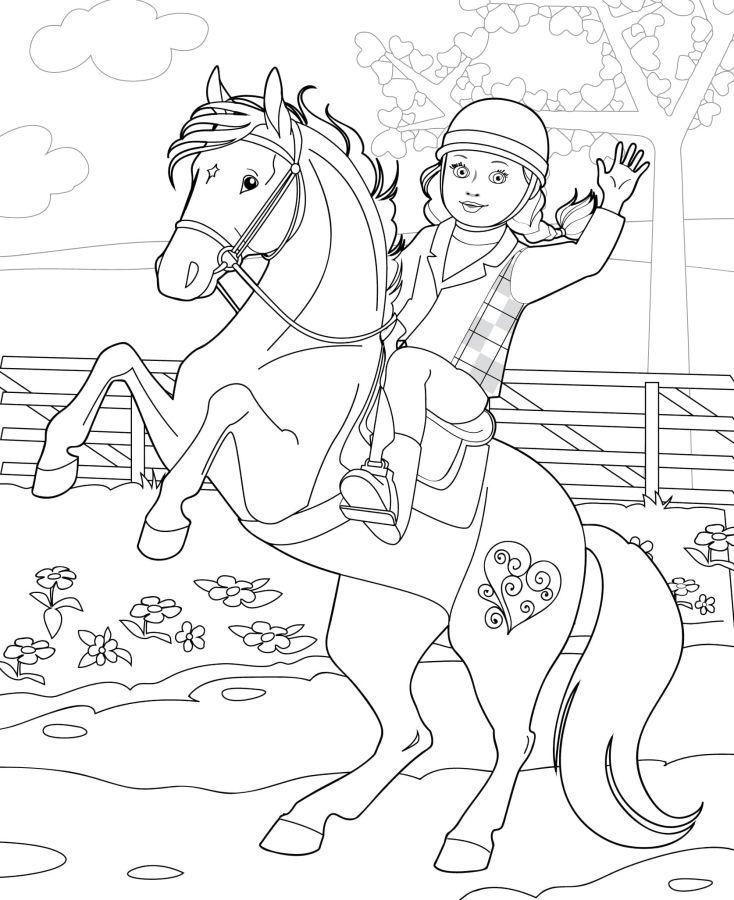 muñecas para colorear 10 en caballo