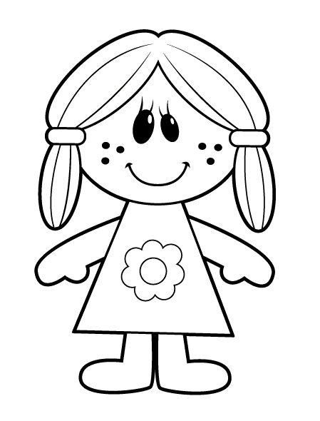 Dibujos De Muñecas Para Colorear Colorear24com