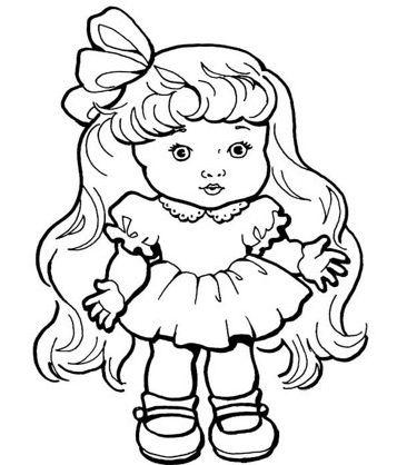 muñecas para colorear 2