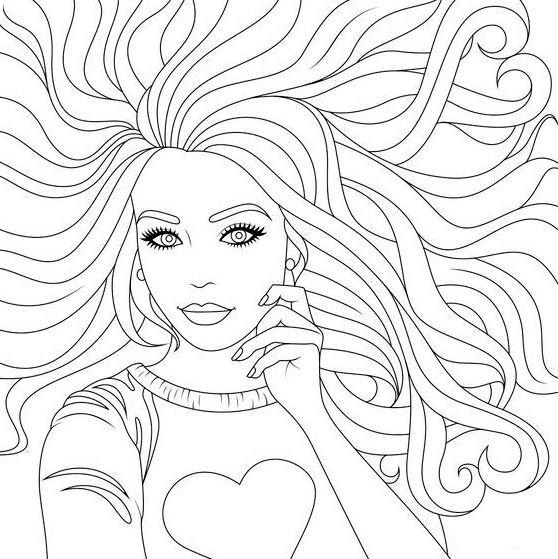 Dibujos de Niñas para colorear - Colorear24.com
