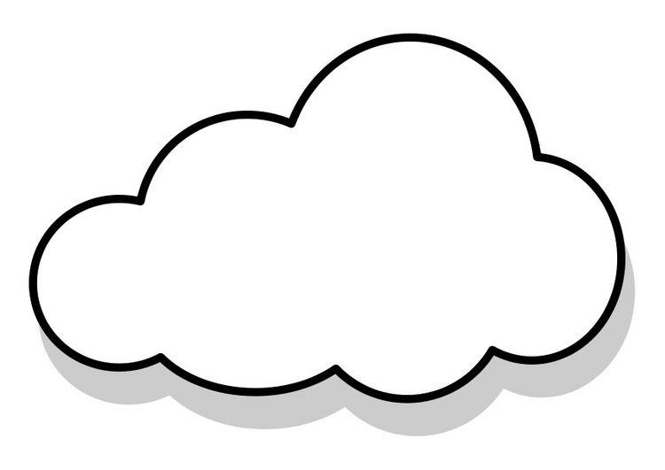 nubes para colorear 1