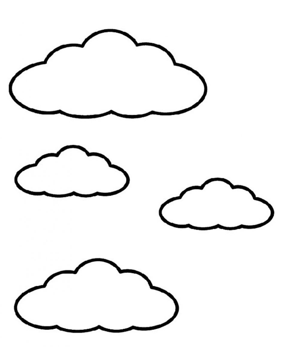 nubes para colorear 5
