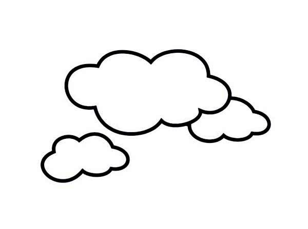 nubes para colorear 6