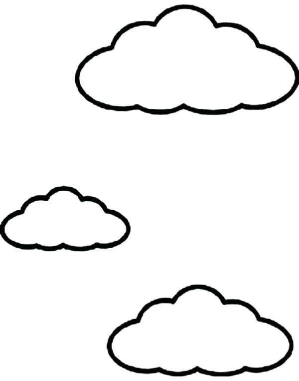 nubes para colorear 7