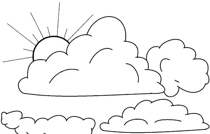 nubes para colorear 9