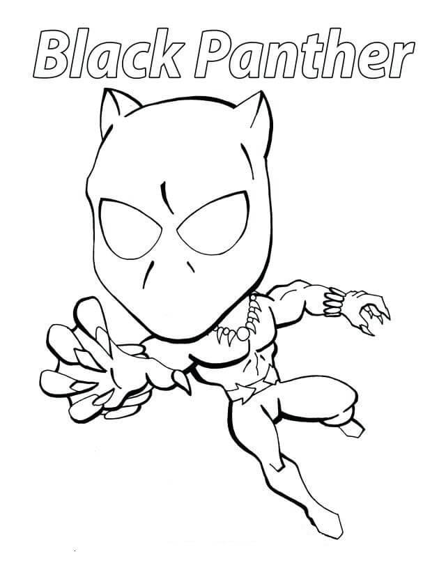 pantera negra para colorear 5