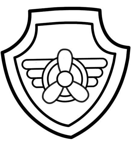 patrulla canina para colorear 11 escudo de skye