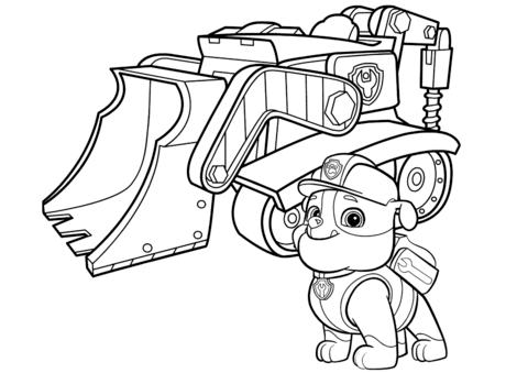 patrulla canina para colorear 14 bulldozer de rubble