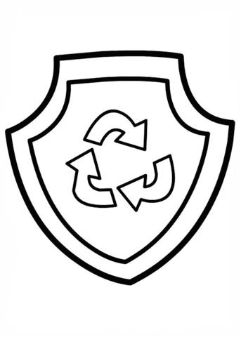 patrulla canina para colorear 20 escudo de rocky