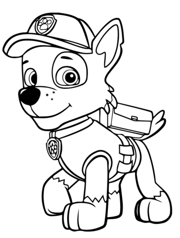 patrulla canina para colorear 21 rocky