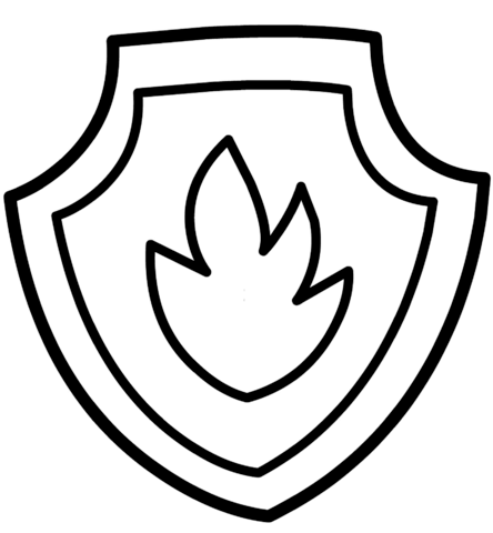 patrulla canina para colorear 23 escudo de marshall