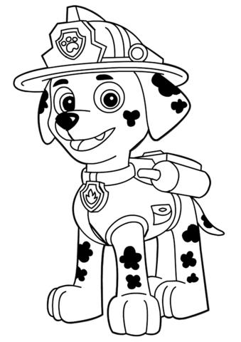 patrulla canina para colorear 24 marshall
