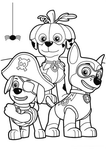 patrulla canina para colorear 28 fiesta de halloween
