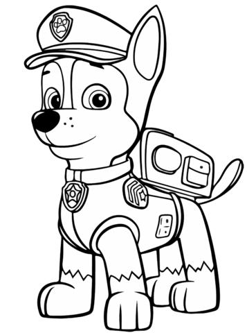patrulla canina para colorear 30 chase