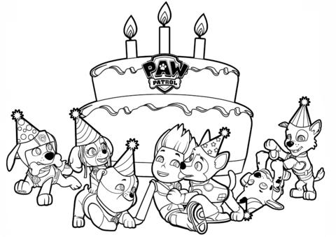 patrulla canina para colorear 5 cumpleaños de ryder
