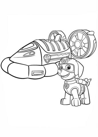 patrulla canina para colorear 8 hovercraft de zuma